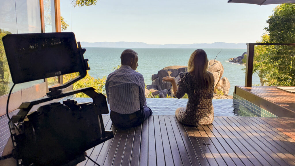 Behind the scenes on location at Bedarra Island Resort